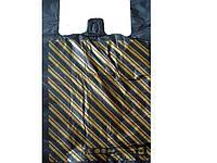 Пакеты типа майка с рисунком (30х50) Диагональ, 250 шт\пач