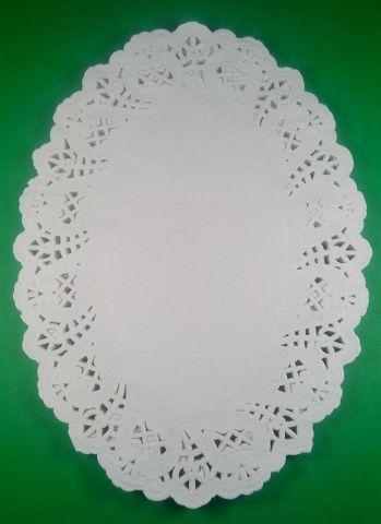 Салфетка кондитерская бумажная, овальная,   19*26 (100шт) (1 пач)