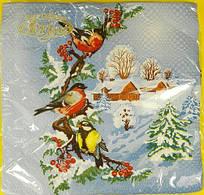 Салфетки декоративные (ЗЗхЗЗ, 20шт)  La FleurНГ Зимний день (115) (1 пач)