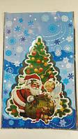 Целофановые кульочки для новорічних подарунків, (25*40) №21 Дід Мороз і ангел, 100 шт\пач