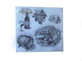 Салфетка декоративная с рисунком (ЗЗхЗЗ, 20шт)  La Fleur Щедрые дары (102) (1 пач)