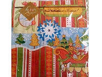 Салфетка праздничная с рисунком  Luxy  Игрушки новогодние
