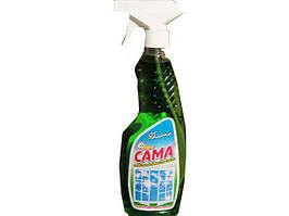 Средство для мытья стекол и других поверхностей САМА яблоко 500г (курок) (1 шт)