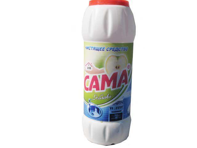 Средство для чистки  посуды (порошок)  САМА Яблоко 500гр (1 шт)