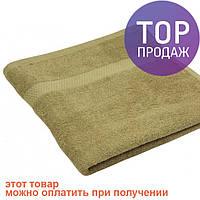 Махровое полотенце кофейное 40х70 / товары для ванной