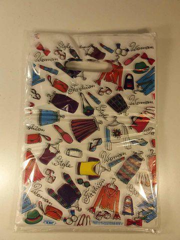 """Пакет полиэтиленовый подарочный маленький с вырубной ручкой  (20*30) """"Бренд- Fashion"""" ХВГ (100 шт)"""