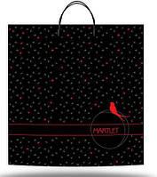 """Пакет сумка полиэтиленовый с пластиковой ручкой """"Ласточка"""", 10 шт\пач"""