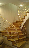 Кованые перила лестницы Л-323