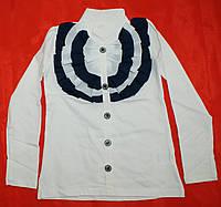 Школьная блузка гольфик для девочки 6-13 лет