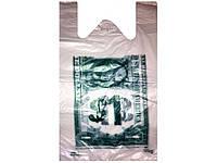 Полиэтиленовый пакет майка (30+2х6)х50) Доллар, 250 шт\пач