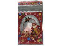 Упаковка новогодняя для сладостей, (20*35) №31 Дед Мороз и медведи, 100 шт\пач
