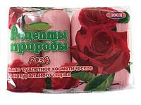 "Мыло туалетное ""ЮСИ""(4шт*75гр) РОЗА (1 пач)"