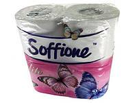 Бумага туалетная целлюлозная белая  Диво SOFFION,   4шт\пач