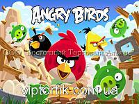 Печать съедобного фото - А4 - Вафельная бумага - Angry Birds №1