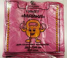 Пакеты майка без рисунка №28*48 Крепыш Сomserv(200шт) (1 пач)