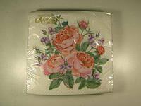 Салфетки бумажные сервировочные (ЗЗхЗЗ, 20шт)  La Fleur  нежная композиция (1 пач)