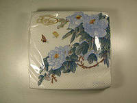 Салфетки бумажные сервировочные (ЗЗхЗЗ, 20шт)  La Fleur  Восточная ветка (1 пач)