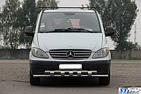 Кенгурятник Mercedes Vito 2004-09 - ус двойной, фото 1