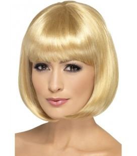Парик каре блонд с челкой 35 см