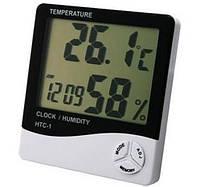 Htc-1 – цифровой прибор 3 в 1: термометр, гигрометр и часы, измерение температуры/влажности воздуха в комнате
