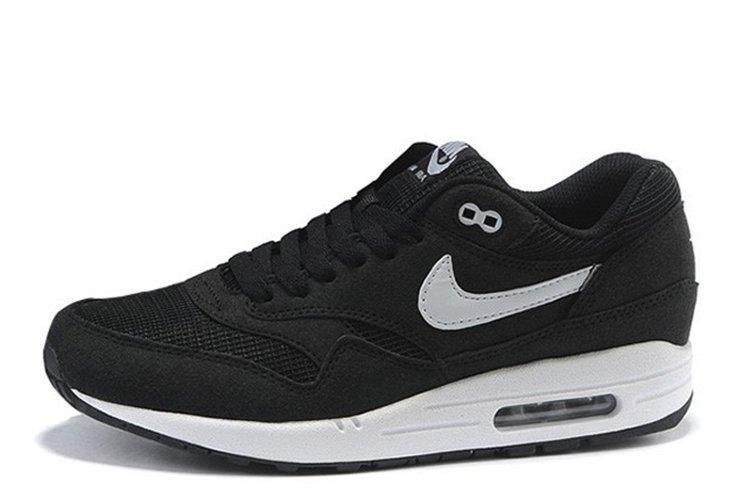 a82b4abb0a93 Мужские кроссовки Nike Air Max 87 Black White черные с белым (Реплика) -  Krosi