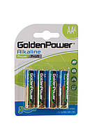 Батарейка GOLDEN POWER Power Plus AA\LR6 BLI 4 Alkaline