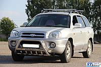 Защита переднего бампера (кенгурятник)  Hyundai Santa Fe 2006-2012
