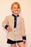 Качественная детская блуза из креп-шифона разных расцветок