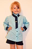Модная детская блуза из креп-шифона разных расцветок