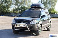 Защита переднего бампера (кенгурятник)  Hyundai Tucson (04 - 10)