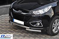 Кенгурятник Hyundai Ix-35 (10+) - ус двойной, фото 1
