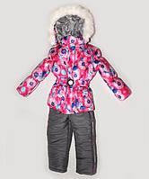 Зимняя куртка на подстежке и полукомбинезон  для девочки, фото 1