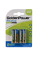 Батарейка GOLDEN POWER Power Plus AAА\LR3 BLI 4 Alkaline