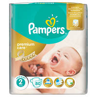 Подгузники Pampers Premium Care New Baby 2 (3-6 кг) Econom Pack 80 шт.