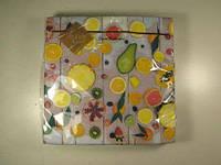 Декоративная бумажная салфетка на стол (ЗЗхЗЗ, 20шт) Luxy  Райские фрукты (1 пач)