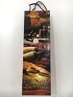 Подарочные бумажные пакеты под бутылку 12/9/36(артBUT-11), 12 шт\пач