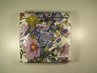 Праздничные цветные салфетки (ЗЗхЗЗ, 20шт) Luxy  Букет климантиса (1 пач)