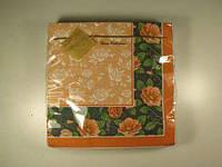 Салфетки бумажные столовые (ЗЗхЗЗ, 20шт) Luxy  Розарий (1 пач)