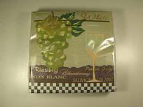 Салфетки бумажные праздничные сервировочные (ЗЗхЗЗ, 20шт) Luxy  Белое вино (1 пач)