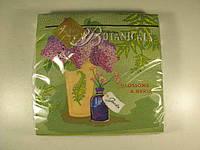 Салфетки столовые бумажные с узором (ЗЗхЗЗ, 20шт) Luxy  Ботаника (1 пач)