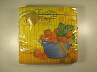 Салфетка столовая с рисунком 3-х слойная (ЗЗхЗЗ, 20шт) Luxy  Клубничный урожай (1 пач)