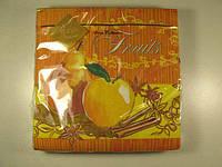 Салфетки бумажные праздничные (ЗЗхЗЗ, 20шт) Luxy  Спелые фрукты (1 пач)