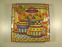 Салфетки бумажные с цветным рисунком (ЗЗхЗЗ, 20шт) Luxy  Чай для двоих (1 пач)