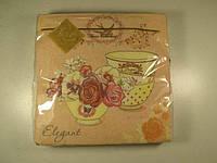 Салфетка трехслойная для декупажа (ЗЗхЗЗ, 20шт) Luxy  Время для чая (1 пач)