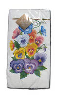 Салфетки трехслойные бумажные с рисунком (ЗЗхЗЗ, 10шт) Luxy MINI Анютын цветок (1 пач)