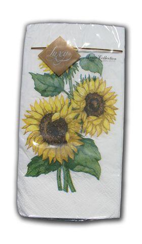 Салфетка бумажная декоративная 3-х слойная (ЗЗхЗЗ, 10шт) Luxy MINIСолнечный цветок (1 пач)