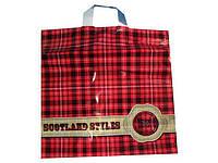 """Пакет полиэтиленовый цветной с петлевой ручкой плотный """"Шотландия крс. """" (40х40+3) 95мк, 50шт\пач"""