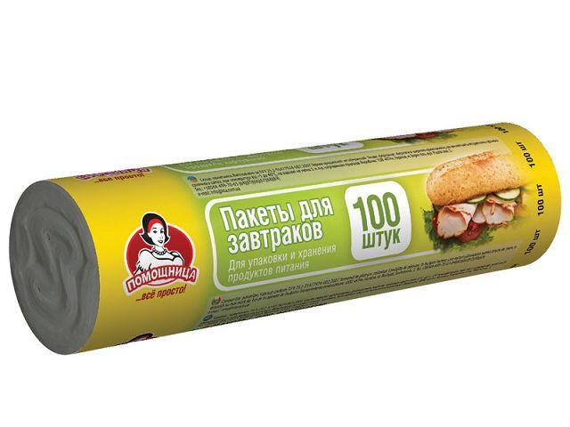 Пакеты для бутербродов (100шт 5,5мкм 17*24) Помiчниця (1 пач)