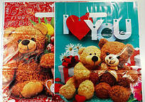 """Подарунковий Пакет """" Банан з прорізною ручкою (34*47+3)""""Ведмедик Тед"""" ХВГ (25 шт)"""