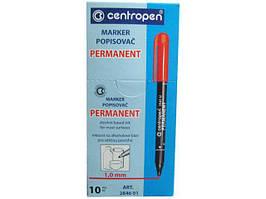 Маркер 1mm  тм Centropen код2846 синий (10 шт)